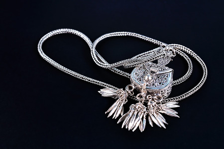 silver jewelry: silver jewelry isolated on background