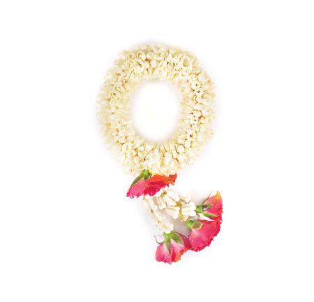 flowers thai style for pray on white Stock Photo