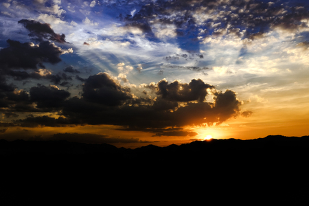 skie: skie clouds sunset and sunlight background