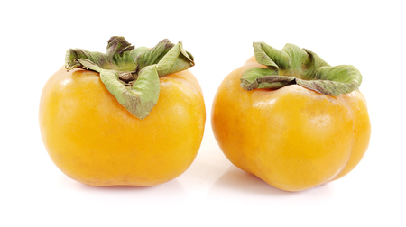 persimmon fresh close up on background Stock Photo