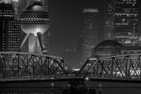 Shanghai nacht uitzicht