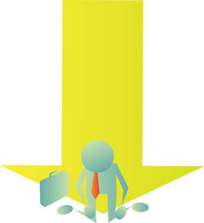 collapsed: Businessman Illustration