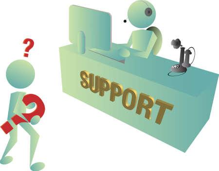 computer support: reparto di assistenza tecnica ha vecchio metodo della moda