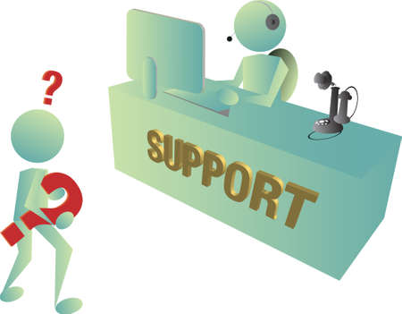 support center: technical support department has old fashion method