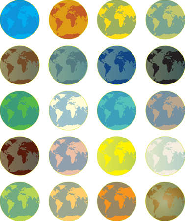 button world Stock Vector - 11281163