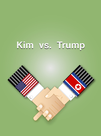 Kim vs. Trump: summit between North Korea and USA Imagens