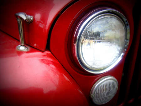 4 wheel: The headlight and front end