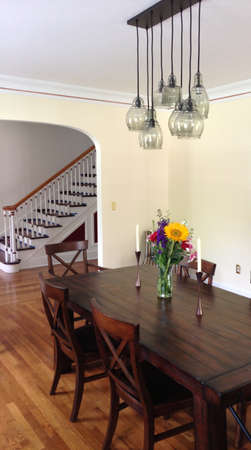entryway: Dining room and entryway in a historic home Editorial
