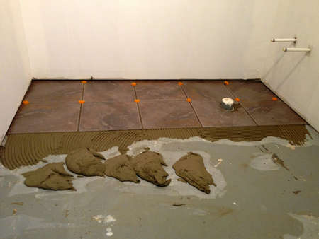 tiling: Installation of new tiling on a floor
