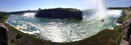 カナダ側からのナイアガラの滝の全景。