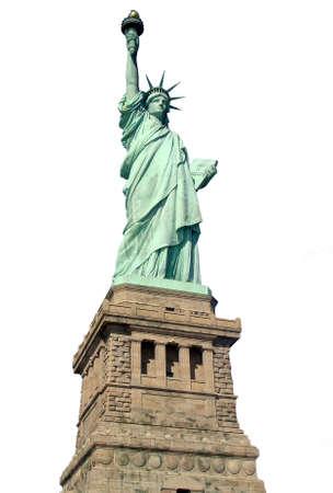 自由の女神像ホワイト バック グラウンド