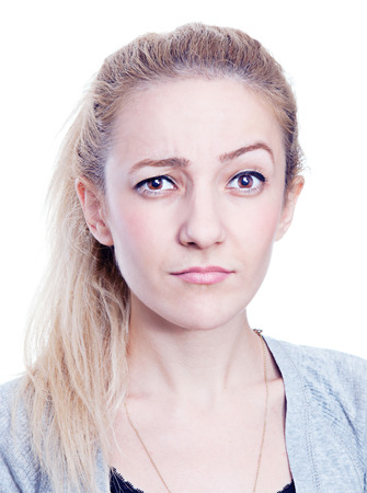 raised eyebrow: Raised Eyebrow Isolated on white background.
