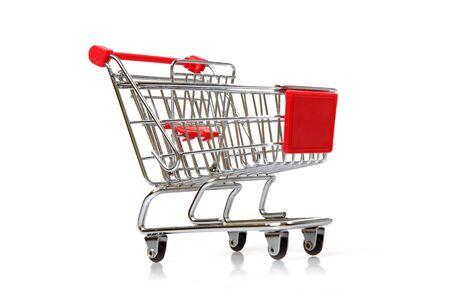 empty shopping cart: Empty Shopping Cart on the white background Stock Photo