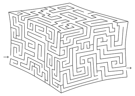 brainteaser: Vector cube maze (labyrinth)
