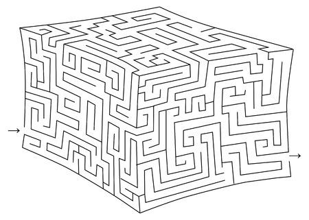 hardship: Vector cube maze (labyrinth)