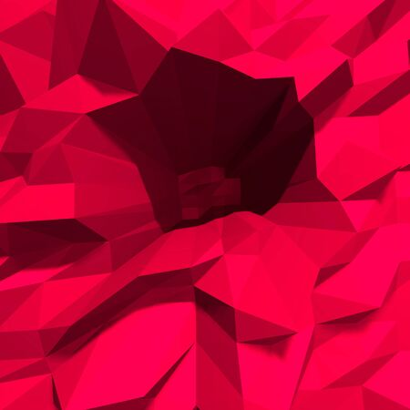 crystalline: Abstract low polygon red crystalline background