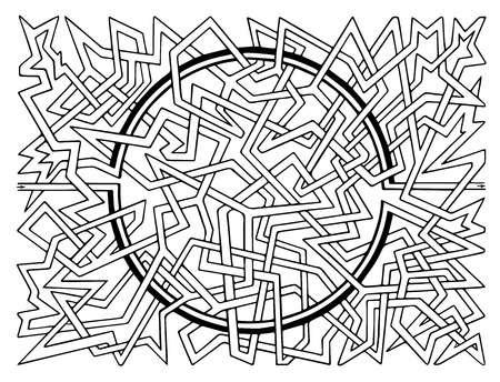 brainteaser: Brain-teaser vector labyrinth Illustration
