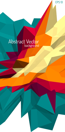 imposition: Vector abstract polygonal background