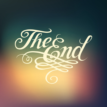 Beautiful movie ending typography \The End\ Illustration