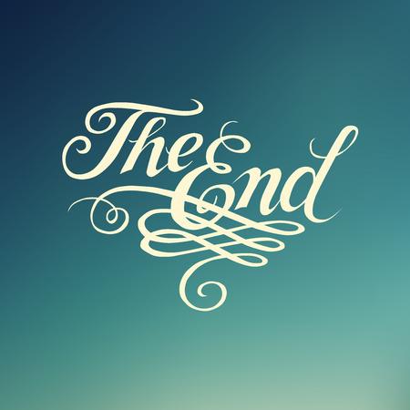 Beautiful movie ending typography \\\