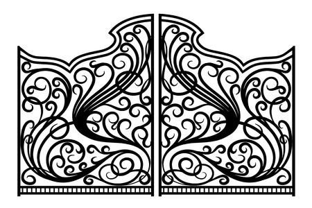 iron gate: Beautiful iron ornament gates
