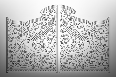 iron fence: Beautiful iron ornament gates