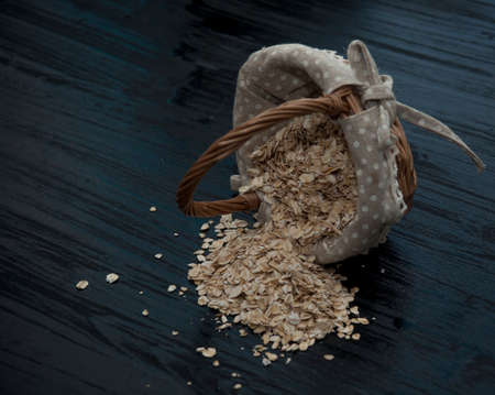 rolled oats: rolled oats Stock Photo