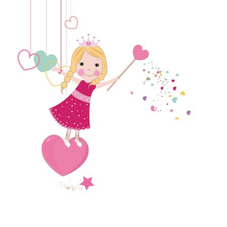 Amor bonito conto de fadas Ilustração