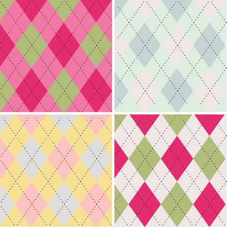 Colorful argyle pattern seamless pattern fabric