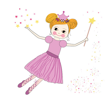 Cute princess fairy vector
