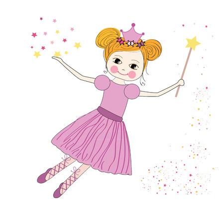 fairy: Cute princess fairy vector