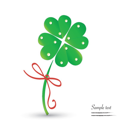 Good luck clover vector background Illustration