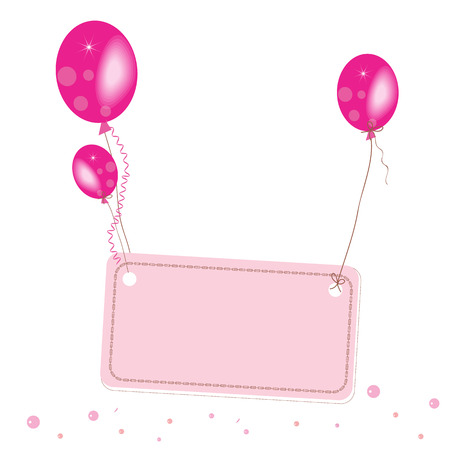 flying balloon: Pink flying balloon place for text wallpaper