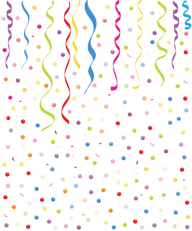 ballons: Colorful small ballons and confetti background vector