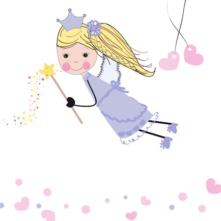 hanging woman: Love fairy valentine greeting card