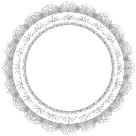 label frame: Lace circle frame vector background Illustration