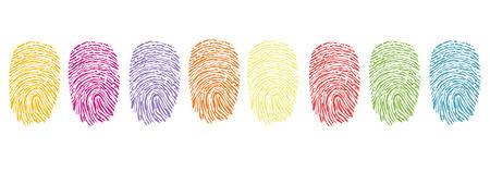 odcisk kciuka: linii papilarnych, streszczenie, palec, ręka, ludzki, ilustracja, izolowane, makro, druk, prywatność, sylwetka, odcisk palca, tapety, wzór, symbol