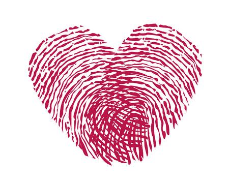 Vingerafdruk hart vector