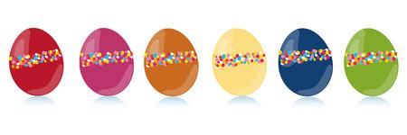 다채로운 부활절 달걀 벡터 세트