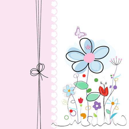 greeting: Floral abstract greeting card vector Illustration