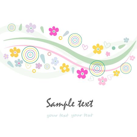 springtime: Abstract floral springtime greeting card vector