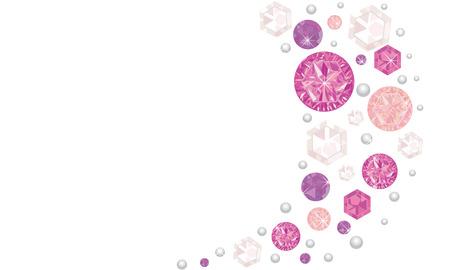 Pink shining diamonds vector background