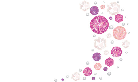 Pink shining diamonds vector background