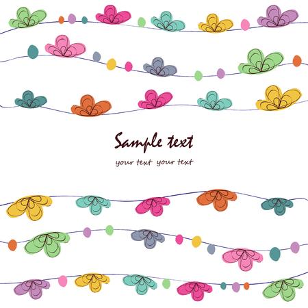 blumen abstrakt: Sommer floral abstrakte Gru�karte Vektor-