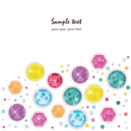 topaz: Colorful diamonds greeting card vector
