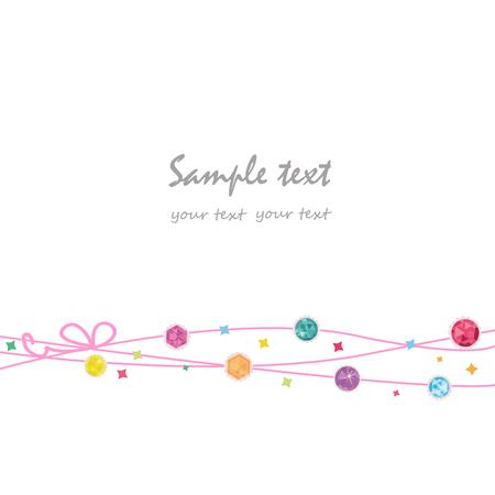 Elegant colorful decorative greeting card Illustration