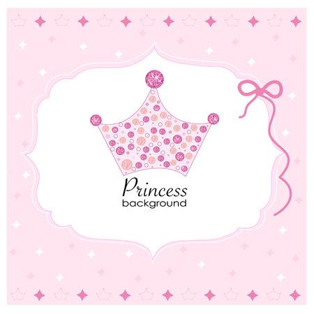 Corona con el fondo rosado de la princesa Foto de archivo - 40154911