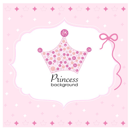 Crown with pink princess background Stock Vector - 40154911