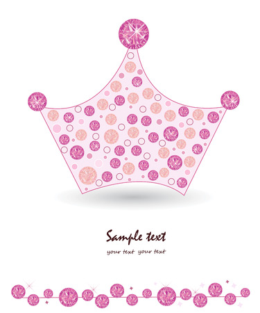 Crown with pink princess background
