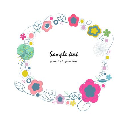 greeting: Summer floral greeting card background